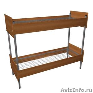 Кровати металлические для казарм, кровати двухъярусные для общежитий. оптом - Изображение #1, Объявление #1478862