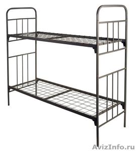 Кровати металлические для казарм, кровати двухъярусные для общежитий. оптом - Изображение #2, Объявление #1478862