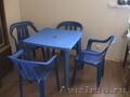 Пластиковые стол и стулья бу