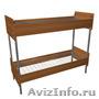 Кровати металлические для казарм,  кровати двухъярусные для общежитий. оптом